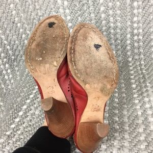 Vince Camuto Shoes - Vince Camuto Red Butterfly Cowboy Western Mules